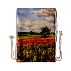 Poppies Drawstring Bag (small)