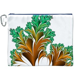 Colorful Fractal Feather Canvas Cosmetic Bag (XXXL)