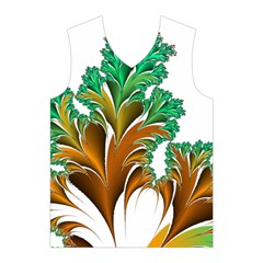 Colorful Fractal Feather Men s Basketball Tank Top