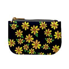 Daisy Flower Pattern For Summer Mini Coin Purses