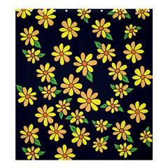 Daisy Flower Pattern For Summer Shower Curtain 66  x 72  (Large)