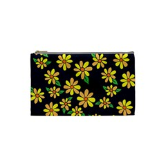 Daisy Flower Pattern For Summer Cosmetic Bag (Small)