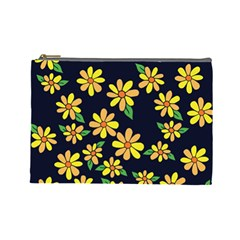 Daisy Flower Pattern For Summer Cosmetic Bag (large)