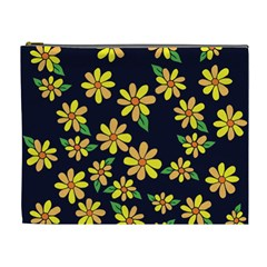 Daisy Flower Pattern For Summer Cosmetic Bag (xl)