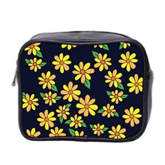 Daisy Flower Pattern For Summer Mini Toiletries Bag 2-Side