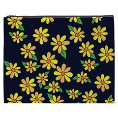 Daisy Flower Pattern For Summer Cosmetic Bag (xxxl)