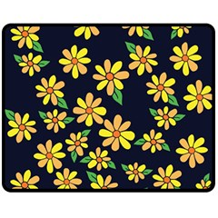 Daisy Flower Pattern For Summer Double Sided Fleece Blanket (Medium)