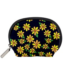 Daisy Flower Pattern For Summer Accessory Pouches (Small)