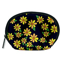 Daisy Flower Pattern For Summer Accessory Pouches (Medium)