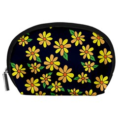 Daisy Flower Pattern For Summer Accessory Pouches (Large)