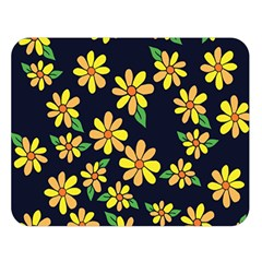 Daisy Flower Pattern For Summer Double Sided Flano Blanket (large)