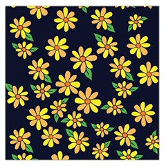 Daisy Flower Pattern For Summer Large Satin Scarf (Square)