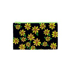 Daisy Flower Pattern For Summer Cosmetic Bag (XS)