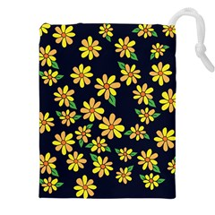Daisy Flower Pattern For Summer Drawstring Pouches (xxl)
