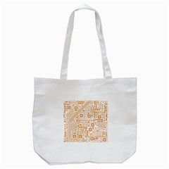Evil Robot Circuit Orange Tote Bag (White)