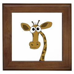 Giraffe  Framed Tiles