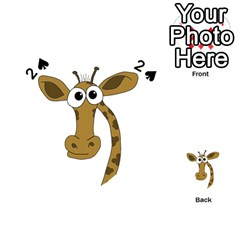 Giraffe  Playing Cards 54 (Heart)