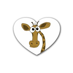Giraffe  Rubber Coaster (Heart)
