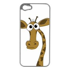 Giraffe  Apple iPhone 5 Case (Silver)