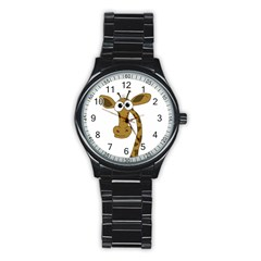 Giraffe  Stainless Steel Round Watch