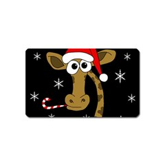 Christmas giraffe Magnet (Name Card)