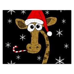 Christmas giraffe Rectangular Jigsaw Puzzl