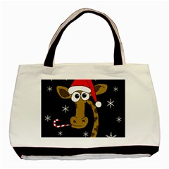 Christmas giraffe Basic Tote Bag (Two Sides)