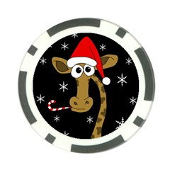Christmas giraffe Poker Chip Card Guards