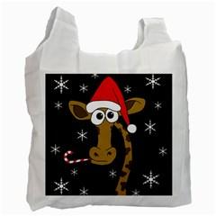 Christmas giraffe Recycle Bag (Two Side)