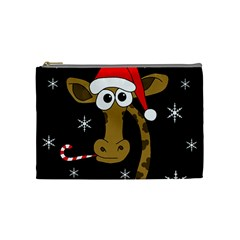 Christmas giraffe Cosmetic Bag (Medium)