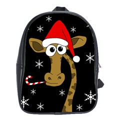Christmas giraffe School Bags(Large)