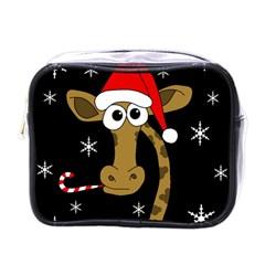 Christmas giraffe Mini Toiletries Bags
