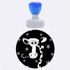 Christmas giraffe Rubber Round Stamps (Large)