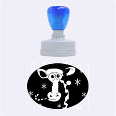 Christmas giraffe Rubber Oval Stamps