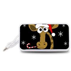 Christmas giraffe Portable Speaker (White)