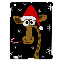 Christmas giraffe Apple iPad 3/4 Hardshell Case (Compatible with Smart Cover)