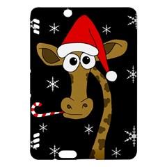 Christmas giraffe Kindle Fire HDX Hardshell Case