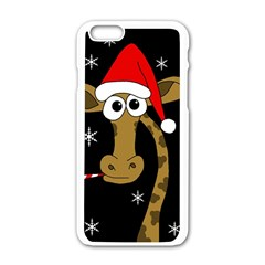 Christmas giraffe Apple iPhone 6/6S White Enamel Case