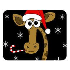Christmas giraffe Double Sided Flano Blanket (Large)