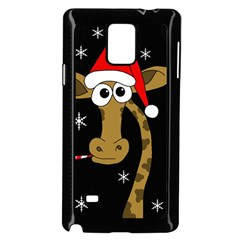 Christmas giraffe Samsung Galaxy Note 4 Case (Black)