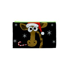 Christmas giraffe Cosmetic Bag (XS)