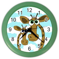 Just the two of us Color Wall Clocks