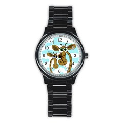 Just the two of us Stainless Steel Round Watch