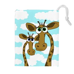 Just the two of us Drawstring Pouches (Extra Large)