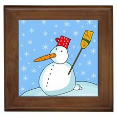 Snowman Framed Tiles