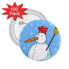 Snowman 2.25  Buttons (100 pack)