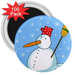 Snowman 3  Magnets (100 pack)