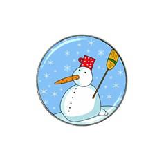 Snowman Hat Clip Ball Marker (4 pack)