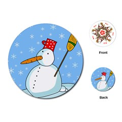 Snowman Playing Cards (Round)