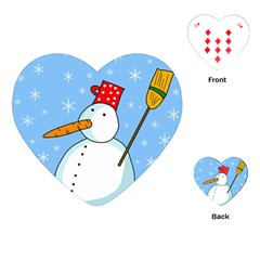 Snowman Playing Cards (Heart)